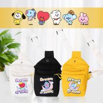 Kpop BTS Shoulder Bag Bangtan Boys DREAM OF BABY Diagonal Shoulder Canvas Bag Chest Bag Waist Bag