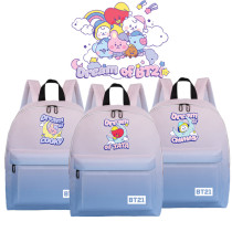 Kpop BTS Backpack Bangtan Boys Dream of Baby Series Backpack Gradient Nylon School Bag Printed Backpack