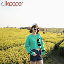 Kpop BTS Sweatershirt Bangtan Boys Young Forever Mint Green Cropped Fans Jung Kook JIN Gift