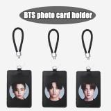 Kpop BTS Card Holder Bangtan Boys BE Album Pictorial Photo Card Holder Certificate Storage Transportation Card Case Boarding Pass