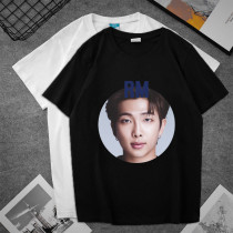Kpop BTS T-shirt Bangtan Boys BE Album Pictorial Photo Short-sleeved T-shirt Couples Wear Summer loose T-shirt