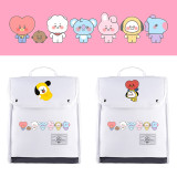 Kpop BTS Backpack Bangtan Boys Backpack Baby Series Canvas Bag Backpack Large Capacity Bag