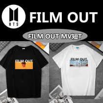 Kpop BTS T-shirt Bangtan Boys FILM OUT Single MV short-sleeved T-shirt Couple T-shirt