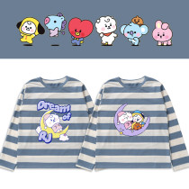 Kpop BTS Long Sleeve T-shirt Bangtan Boys DREAM OF BABY Long Sleeve T-shirt Base Shirt Striped T-shirt