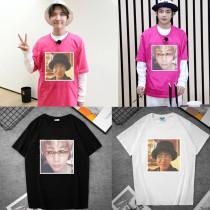 Kpop BTS T-shirt Bangtan Boys Loose Short Sleeve T-shirt Round Neck Casual Printed Top