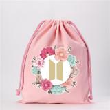 Kpop BTS Storage Bag Bangtan Boys BE Album Photo Drawstring Bag Closure Drawstring Bag Gift Storage