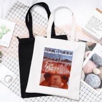 Kpop BTS Shoulder Bag Bangtan Boys Literary Fresh Student Shoulder Bag Film Out Single Canvas Bag Shopping Bag