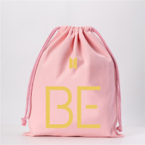 Kpop BTS Canvas Bag Bangtan Boys BE Cartoon Cute Drawstring Canvas Bag Drawstring Pocket Student Color Jewelry Bag