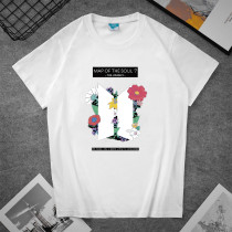 Kpop BTS T-shirt Bangtan Boys Loose Simple T-shirt Short Sleeve Summer Fashion Print Couple Wear