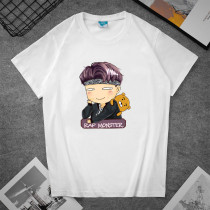 Kpop BTS T-shirt Bangtan Boys T-shirt cartoon cute printed short-sleeved top