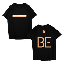 Kpop BTS T-shirt Bangtan Boys BE Short-sleeved Letter Printed Short-sleeved T-shirt
