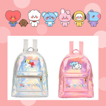 Kpop BTS Backpack Bangatan Boys Casual PU Backpack Laser School Bag Backpack