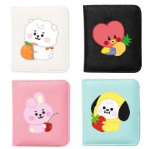 Kpop BTS Wallet Bangtan Boys Macarons Fruit Wallet Wallet Student Cartoon Cute Simple Printed Card Holder