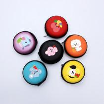 Kpop BTS Bangtan Boys Fruit Cartoon Headphone Case Cute Portable Storage Coin Purse