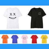 Kpop BTS T-shirt Bangtan Boys Smiley Loose Short Sleeve T-shirt Round Neck Casual Printed Top