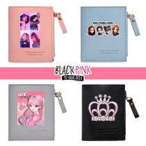 Kpop Blackpink Wallet  Short Wallet Coin Purse Zipper Bag LISA JENNIE ROSE JISOO