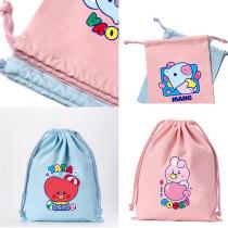 Kpop BTS Storage Bag Bangtan Boys  Drawstring Bag Closure Drawstring Bag Gift Storage