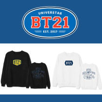 Kpop BT21 Sweatshirt Bangtan Boys Solid Color Round Neck Sweater  Sweatershirt