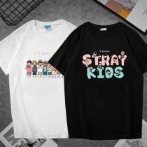 Kpop Straykids T-shirt Version Loose Korean Version Bottoming Shirt Short Sleeve