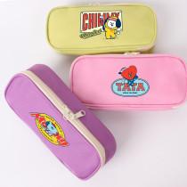 Kpop BTS Pencil Case Bangtan Boys HOLE IN ONE Series Pencil Case Long Coin Purse Zipper Stationery Box