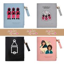 Kpop Squid Game Bag Short Wallet Multi-function Coin Purse Storage Bag