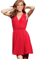 Red Casual Summer Beach Dress