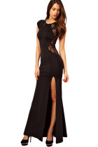 Maxi Dress with Lace Back and Fishtail