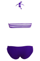 Strappy Cut-out Bikini Purple