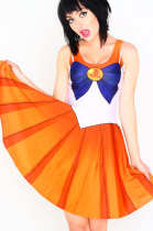 Orange Sailor Moon Digital Print Dress Uniform
