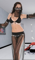 Black Arabian Dancer Costume