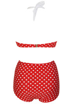 Pin-up Vintage Red Polka Dot High-waisted Swimsuit