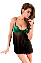 Mesh Babydoll with Satin Padded