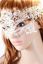 Halloween Masquerade Party White Lace Mask