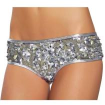 Charmingirl White Sequin Short Panty