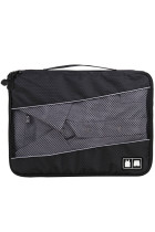 Black 3pcs/Set Travel Organizers Cube Packing Bag