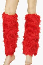 Red Fur Boot Covers