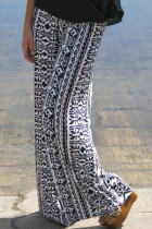 Tribal Print Casual Comfy Wide Leg Pants