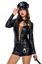 Stylish 6pcs Female Cop Costume