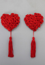 1 Pair Red Lucky Shape Pasties with Tassels