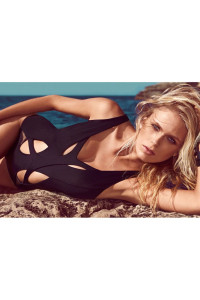 Sexy Sultry Hollow out Black Monokini