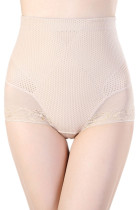 Nude Lacy Pointelle Tummy Control Body Shaper