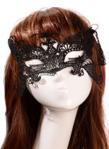 Party Queen Stylish Black Lace Mask