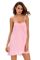 Pink Vintage Crinkled Beach Sundress