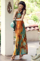 Classic Braided Neck Maxi Dress