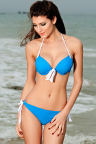 Push-up Halter Bikini Blue