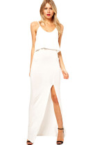 Love Crop Maxi Dress White