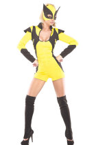 Yellow Masked Super Hero Costume