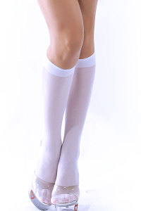 White Knee Stockings