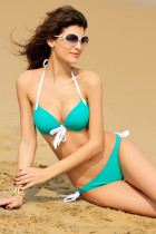 Push-up Halter Bikini Green