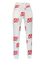 Fashion 100 Score Emoji Print Pants